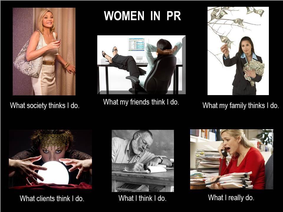 Women in PR meme